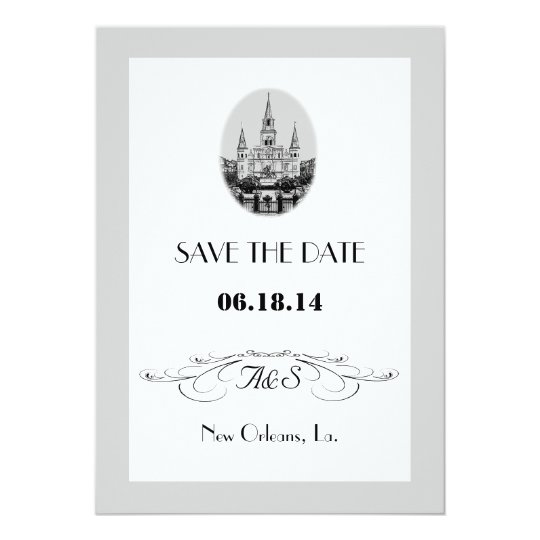 New Orleans Jackson Square Save the Date Cards