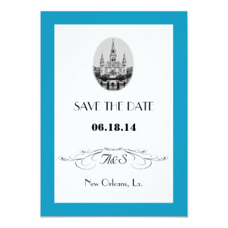 New Orleans Jackson Square Save the Date Cards Custom Invitation