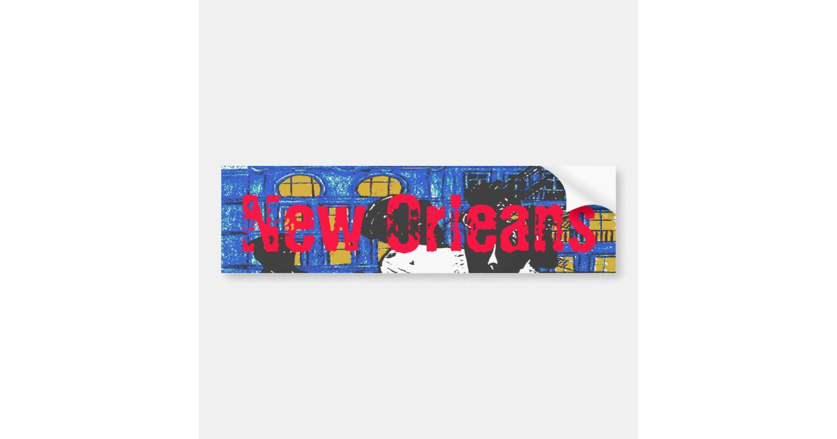 New orleans jazz band bumper sticker zazzle com