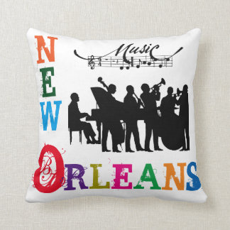 New Orleans/Jazz Band/Music - Throw Pillow