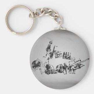 New Orleans Jazz Basic Round Button Keychain