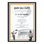 New Orleans Jazz Mardi Gras Custom Announcement