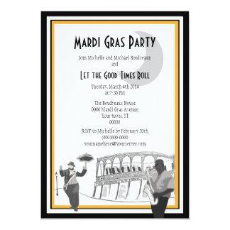 New Orleans Jazz Mardi Gras 5x7 Paper Invitation Card