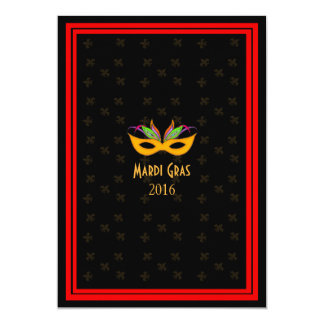 New Orleans Jazz Mardi Gras Red Card