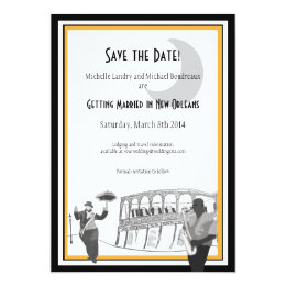New Orleans Jazz Save The Date (black U0026 Gold) ...