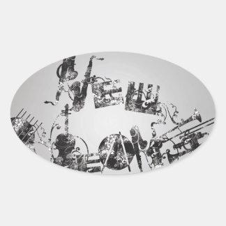 New Orleans Jazz Oval Sticker