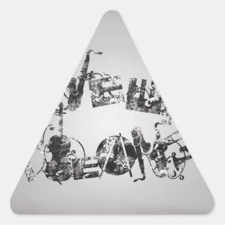 New Orleans Jazz Triangle Sticker