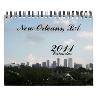 New Orleans, LA, 2011, calendario