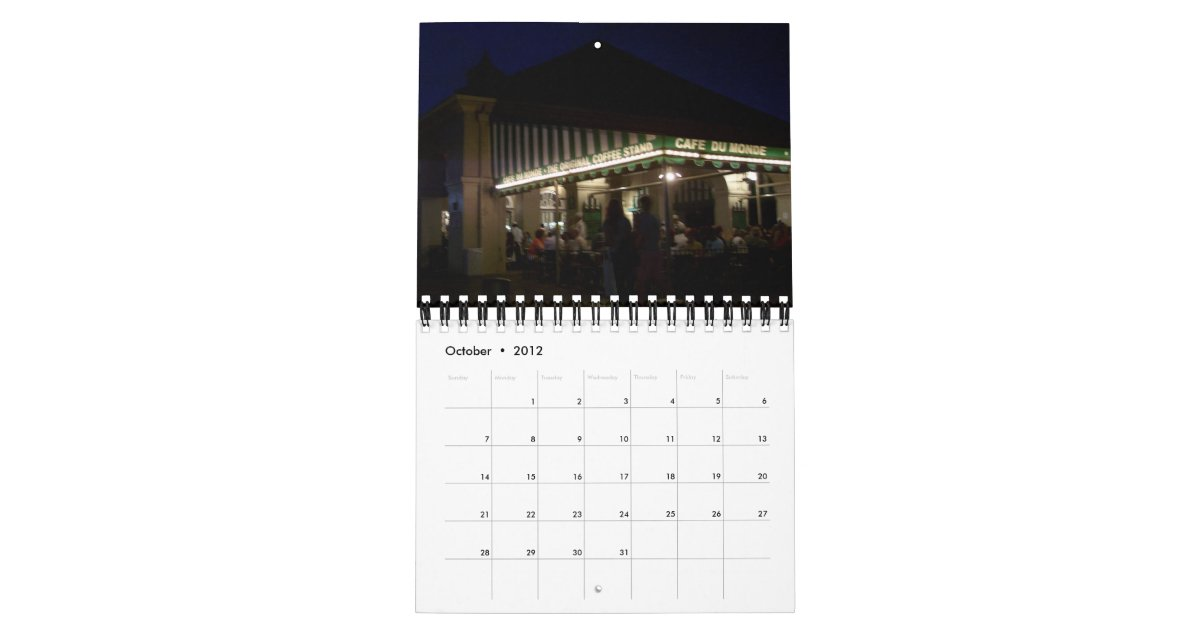 May Calendar New Orleans : New orleans la calendar zazzle