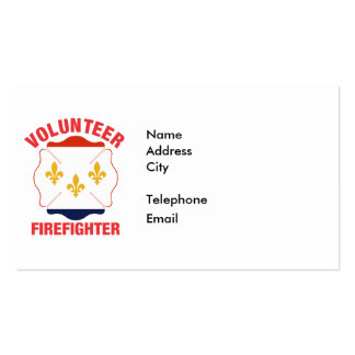 New Orleans, LA Flag Volunteer Firefighter Cross Double-Sided Standard Business Cards (Pack Of 100)