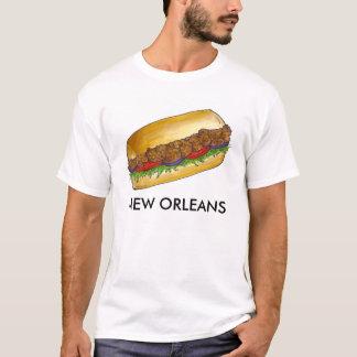 New Orleans LA Fried Oyster Po'Boy Poboy NOLA Tee