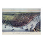 New Orleans LA Panoramic Map DIGITALLY REMASTERED Print