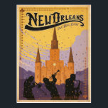 "New Orleans, LA Postcard<br><div class=""desc"">Anderson Design Group is an award-winning illustration and design firm in Nashville,  Tennessee. Founder Joel Anderson directs a team of talented artists to create original poster art that looks like classic vintage advertising prints from the 1920s to the 1960s.</div>"