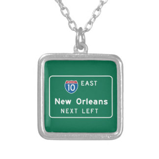 New Orleans, LA Road Sign Pendant