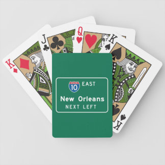 New Orleans, LA Road Sign Bicycle Poker Deck