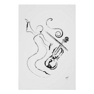 New Orleans Lady - Violin on Wrapped Canvas Poster