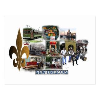 New Orleans Landmarks Postcard