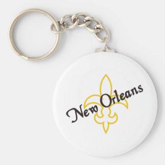 New Orleans Llavero Redondo Tipo Pin