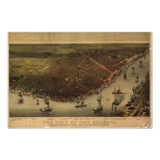 New Orleans, Louisiana 1885 Poster