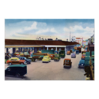 New Orleans Louisiana Busy French Market Posters