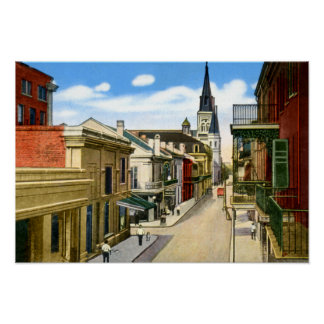 New Orleans Louisiana Chartres Street French Quart Posters