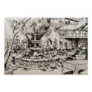 New Orleans Louisiana Court Two Sisters Courtyard Poster