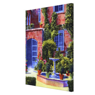 New Orleans Louisiana Courtyard of Little Theatre Canvas Print