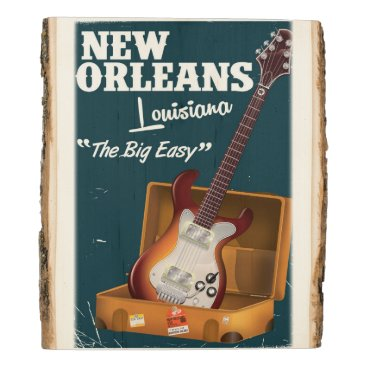 USA Themed New Orleans Louisiana Electric Guitar Wood Panel