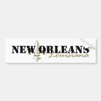 New Orleans Louisiana gold Bumper Sticker