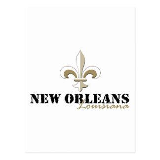 New Orleans Louisiana gold Postcard