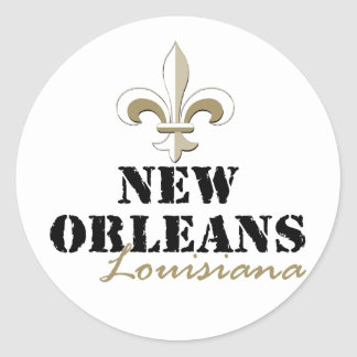 New Orleans Louisiana gold Sticker