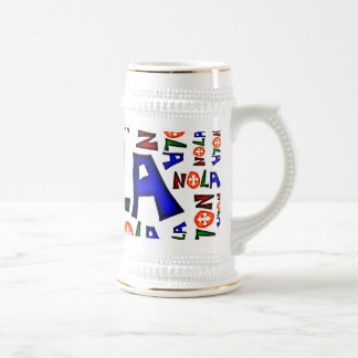 NEW ORLEANS LOUISIANA GRAPHIC BEER STEIN