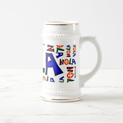 NEW ORLEANS LOUISIANA GRAPHIC COFFEE MUGS