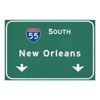 New Orleans Louisiana Interstate Highway Freeway : Photo Print