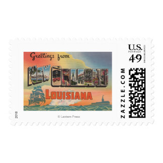 New Orleans, Louisiana - Large Letter Scenes Postage Stamp