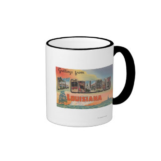 New Orleans, Louisiana - Large Letter Scenes Ringer Mug