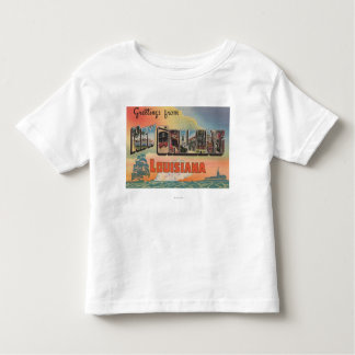 New Orleans, Louisiana - Large Letter Scenes T Shirt