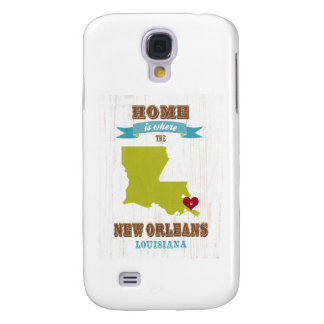 New Orleans, Louisiana Map – Home Is Where Samsung Galaxy S4 Case