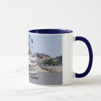 New Orleans Louisiana Mississippi River Boat Mug