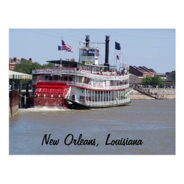 cyclegirl New Orleans Louisiana Mississippi River Boat Postcard