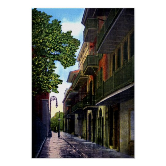 New Orleans Louisiana Pirates Alley Poster