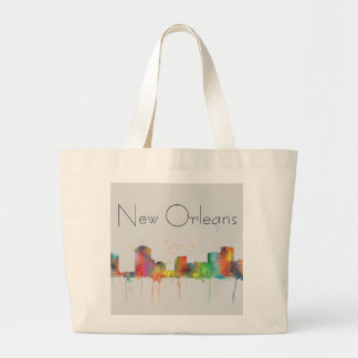 NEW ORLEANS, LOUISIANA SKYLINE LARGE TOTE BAG