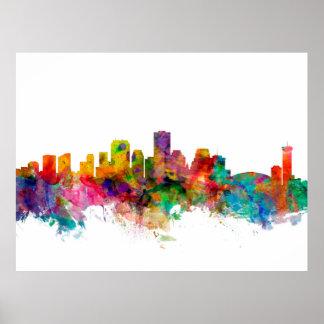 New Orleans Louisiana Skyline Poster