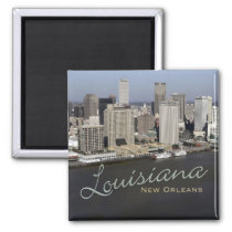 New Orleans Louisiana Souvenir Fridge Magnet