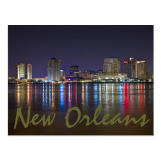 New Orleans, Louisiana / The Big Easy at night. Postcard