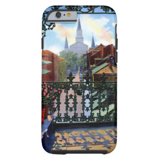 New Orleans Louisiana Vieux Carre Balcony Scene iPhone 6 Case