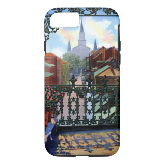 New Orleans Louisiana Vieux Carre Balcony Scene iPhone 8/7 Case