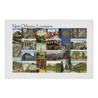 New Orleans, Louisiana Vintage Views Poster