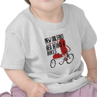 New Orleans Loves Red Beans and Bikes Tee Shirt