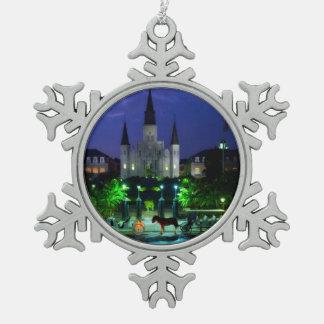 New Orleans Luisiana Adorno De Peltre En Forma De Copo De Nieve